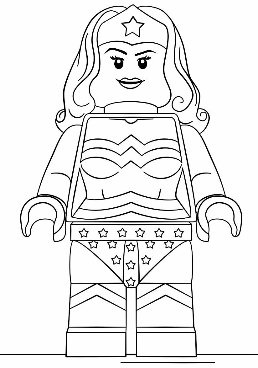 Desenho da Mulher Maravilha Lego para colorir