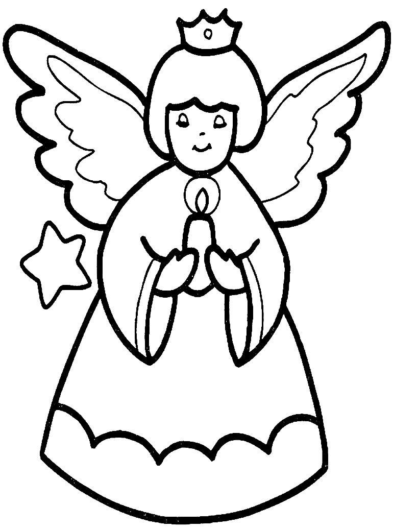 Desenho de Anjinha para colorir
