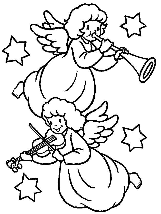 Desenho de Anjinhas para pintar