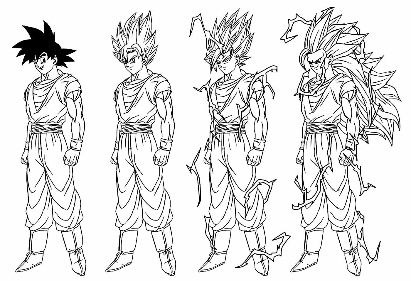 Desenho para pintar de Dragon Ball Z