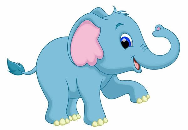 Desenho colorido de Elefante