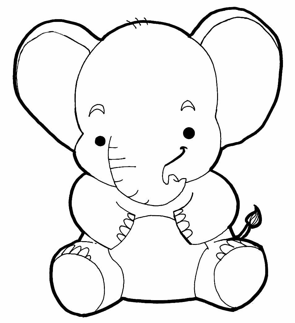 Desenho de Elefante para pintar