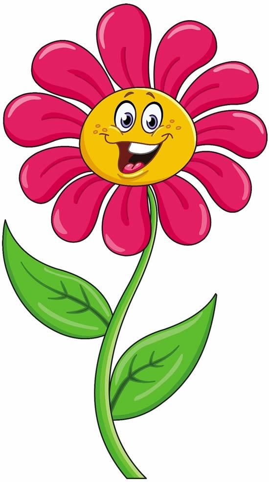 Desenho Divertido de Flor