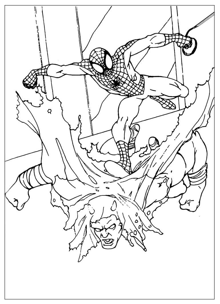 Imagem de Homem-Aranha para colorir