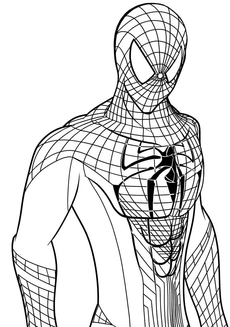 Desenho para colorir de Homem-Aranha