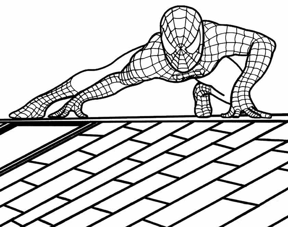 Desenho de Homem-Aranha para imprimir e colorir