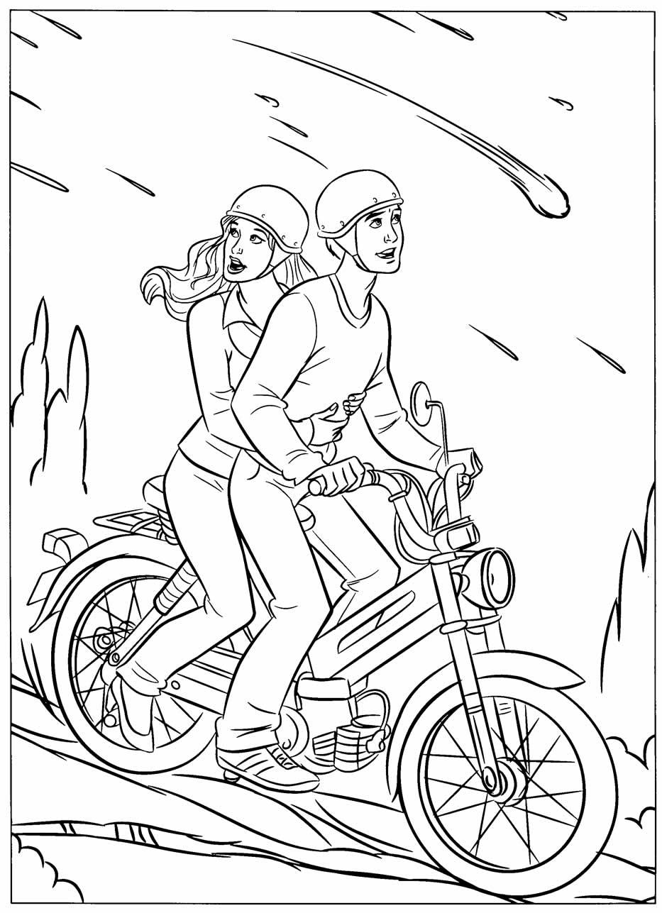 Desenho do Homem-Aranha na moto