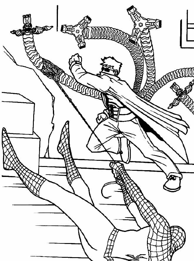 Desenho de Homem-Aranha para colorir