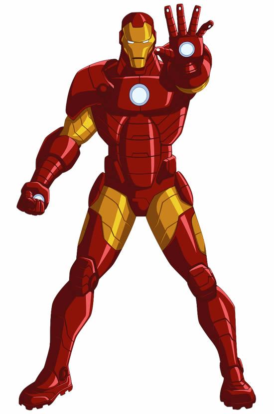 Molde Colorido de Homem de Ferro