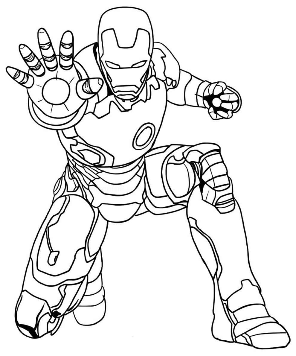Desenho de Homem de Ferro para pintar