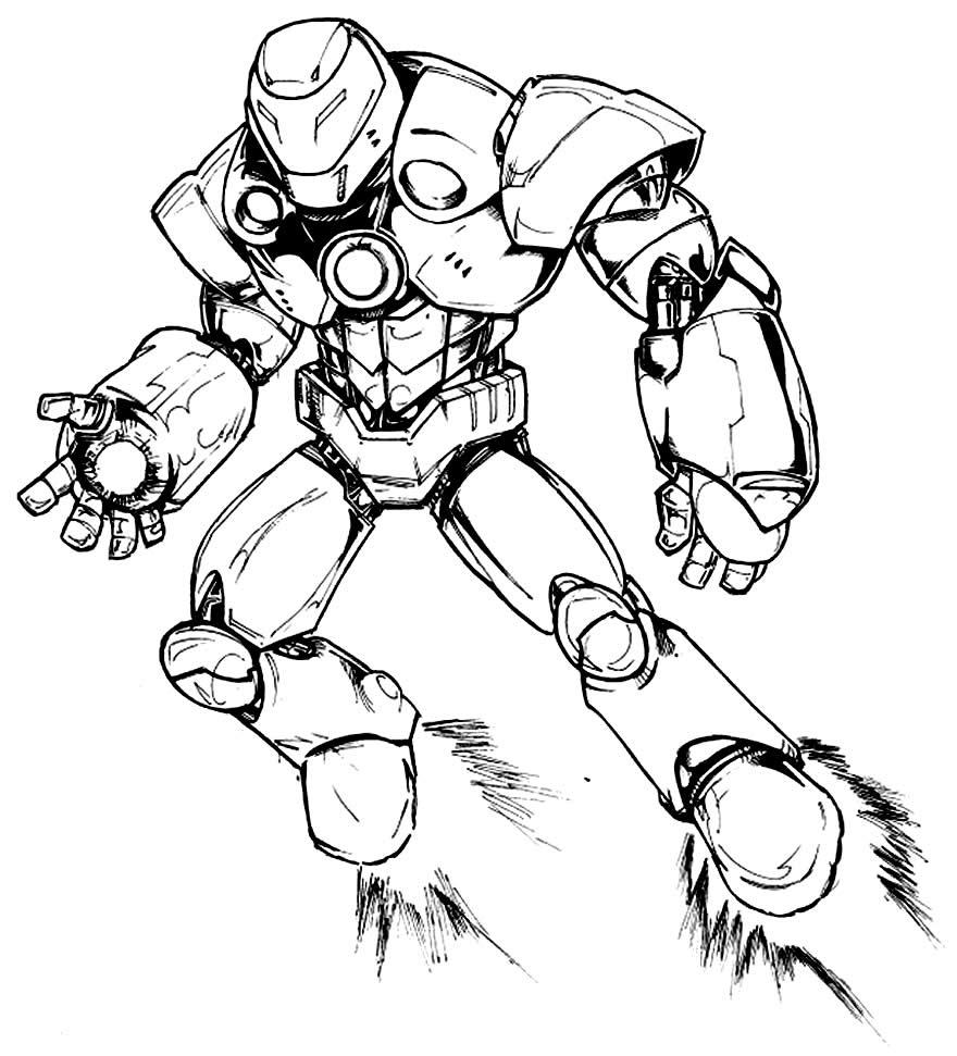 Imagem de Homem de Ferro para pintar