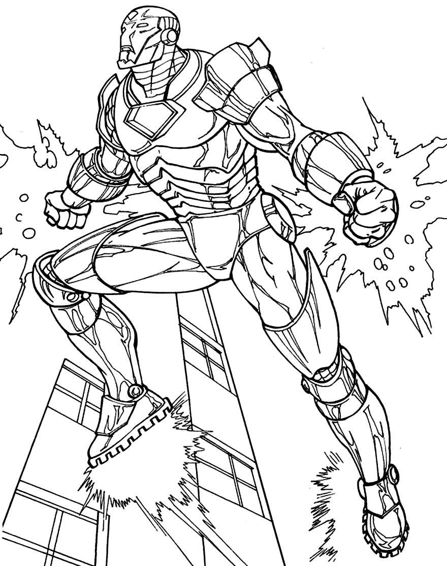 Imagem de Homem de Ferro para colorir