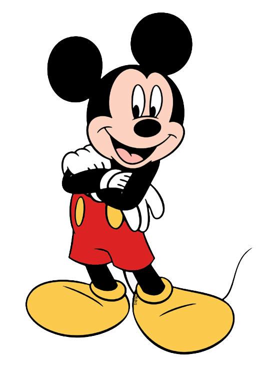 Molde Colorido do Mickey Mouse