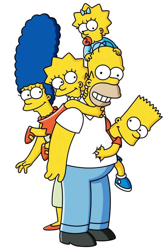 Molde Colorido dos Simpsons