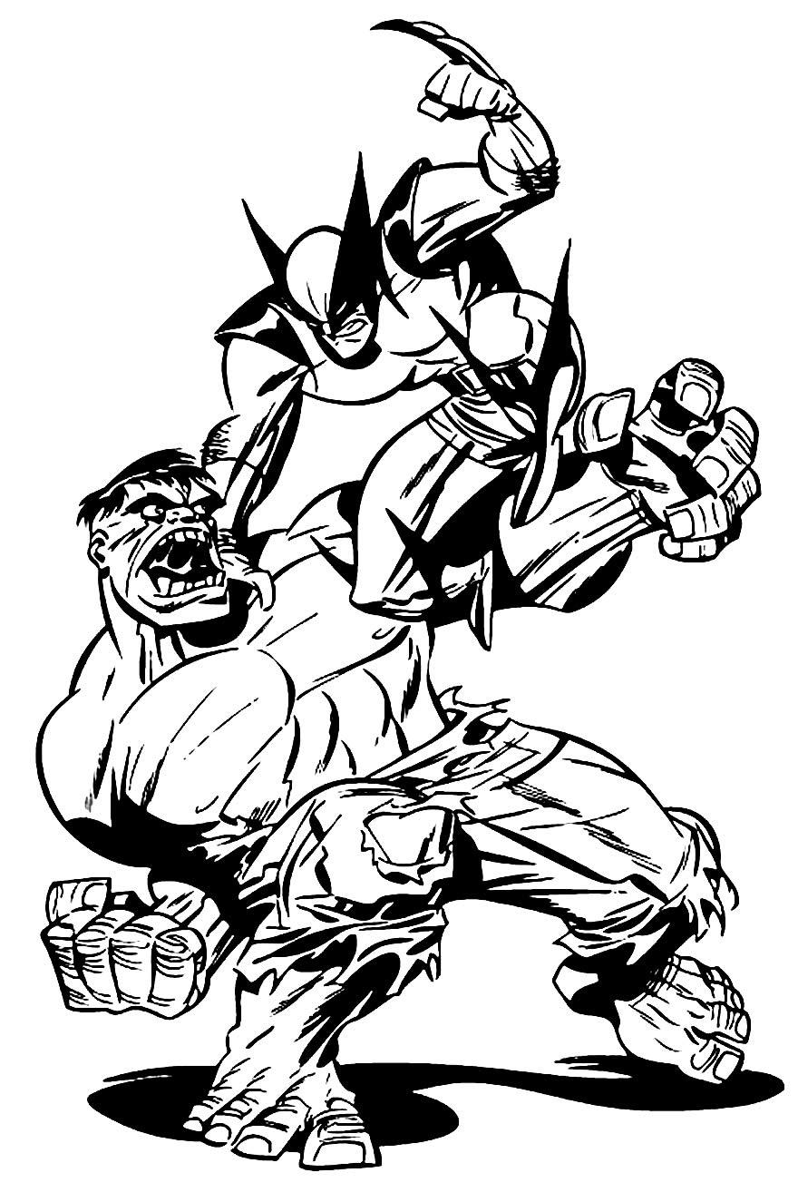 Imagem de Wolverine para colorir e pintar