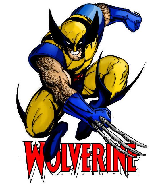 Desenho colorido do Wolverine