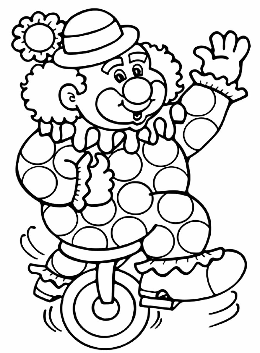 Desenho lindo de palhaço