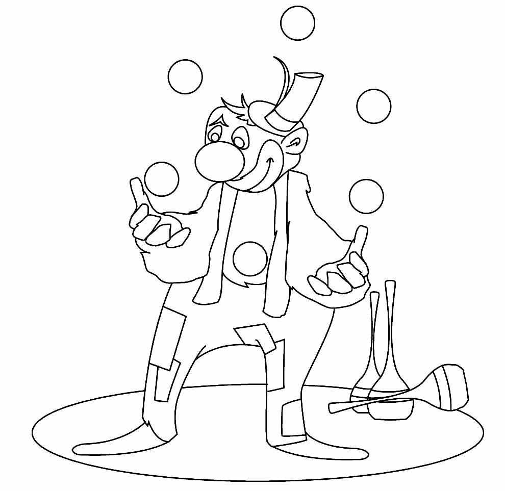 Desenho de palhacinho para pintar