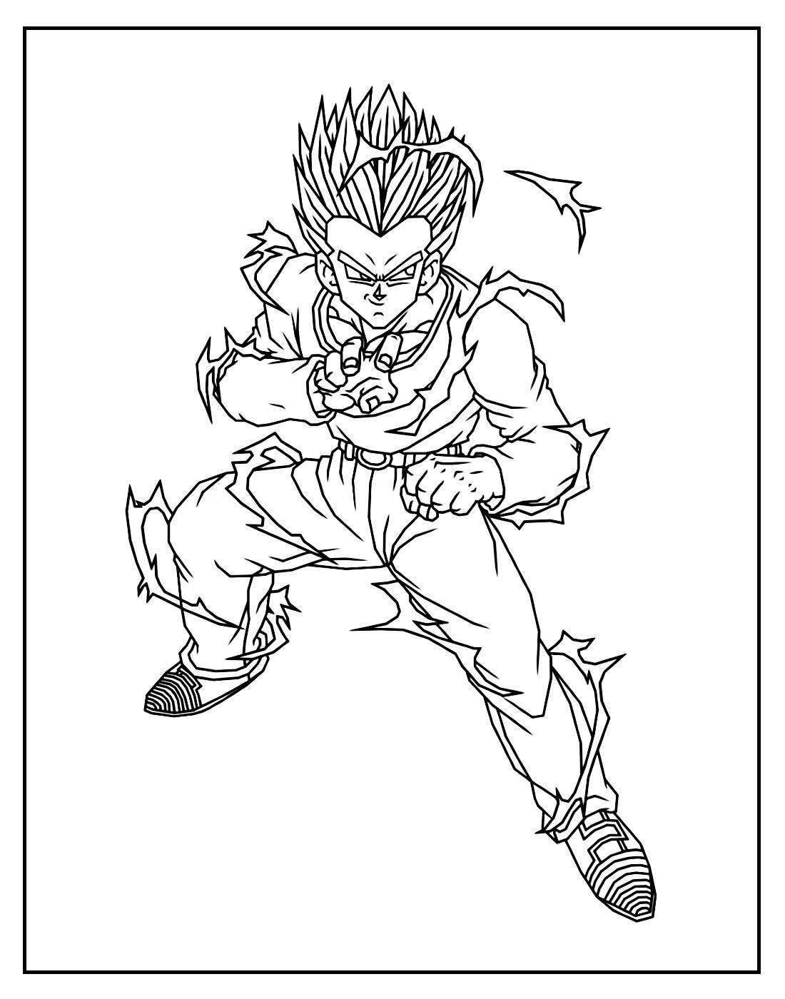Página para pintar de Dragon Ball Z
