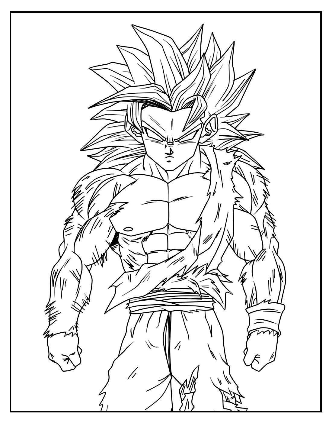 Página para colorir de Dragon Ball Z