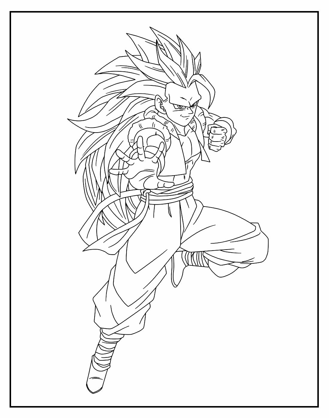 Página para colorir Dragon Ball Z