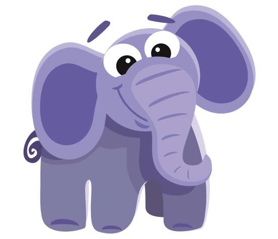 Desenho fofo de elefante