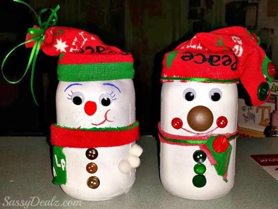 Lembrancinha de Natal com potes