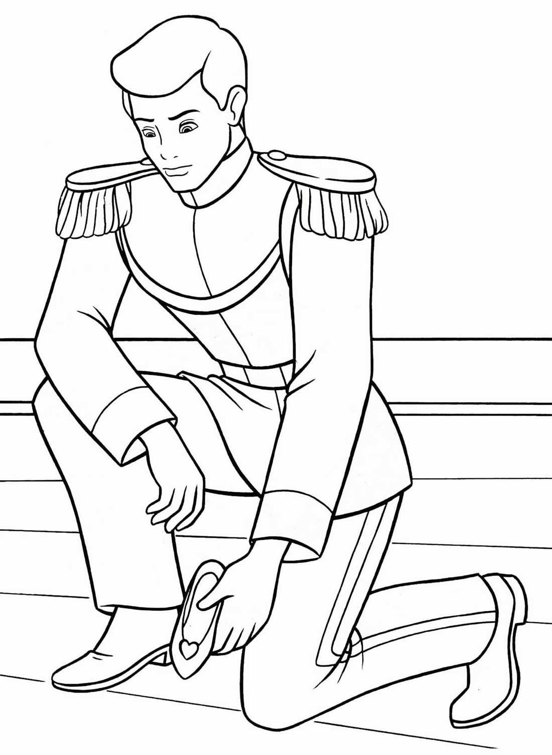 Desenho do Príncipe - Cinderela