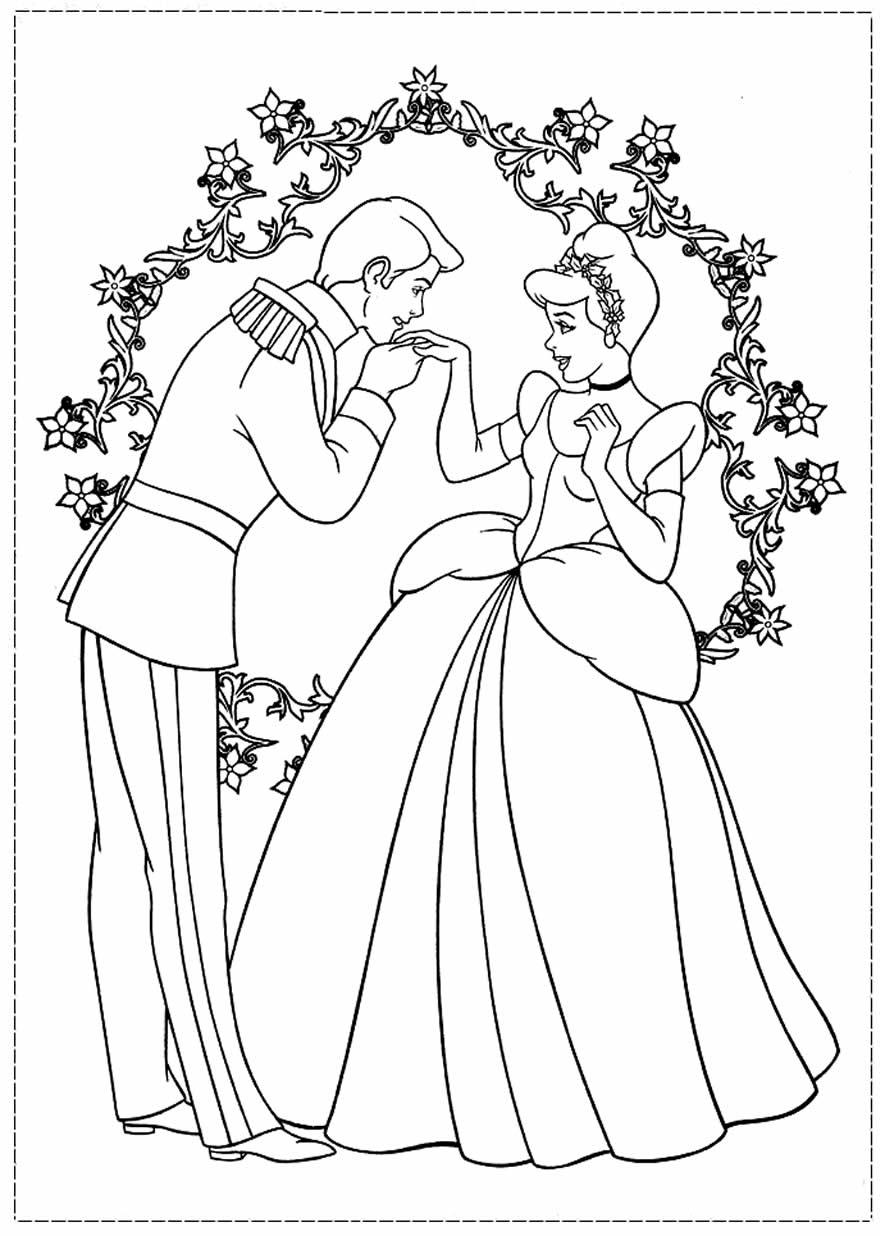 Desenho de Cinderela e o Príncipe