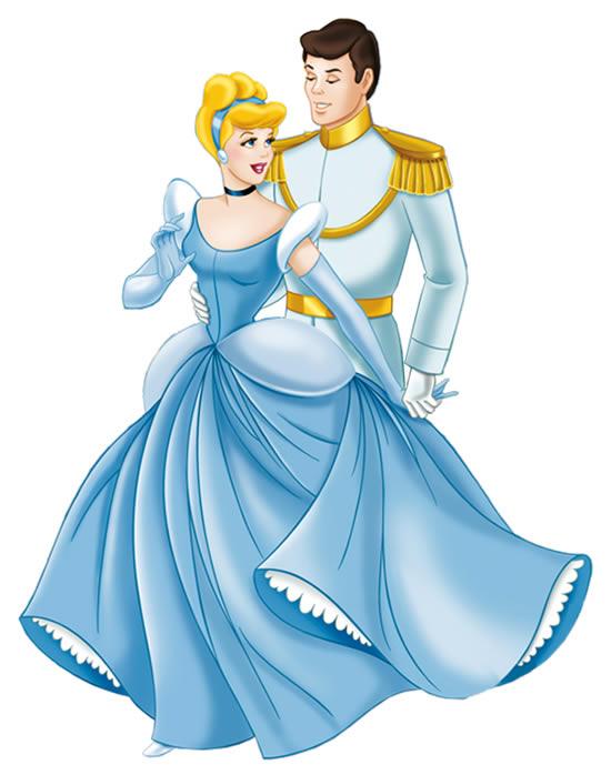 Desenho da Cinderela e o Príncipe