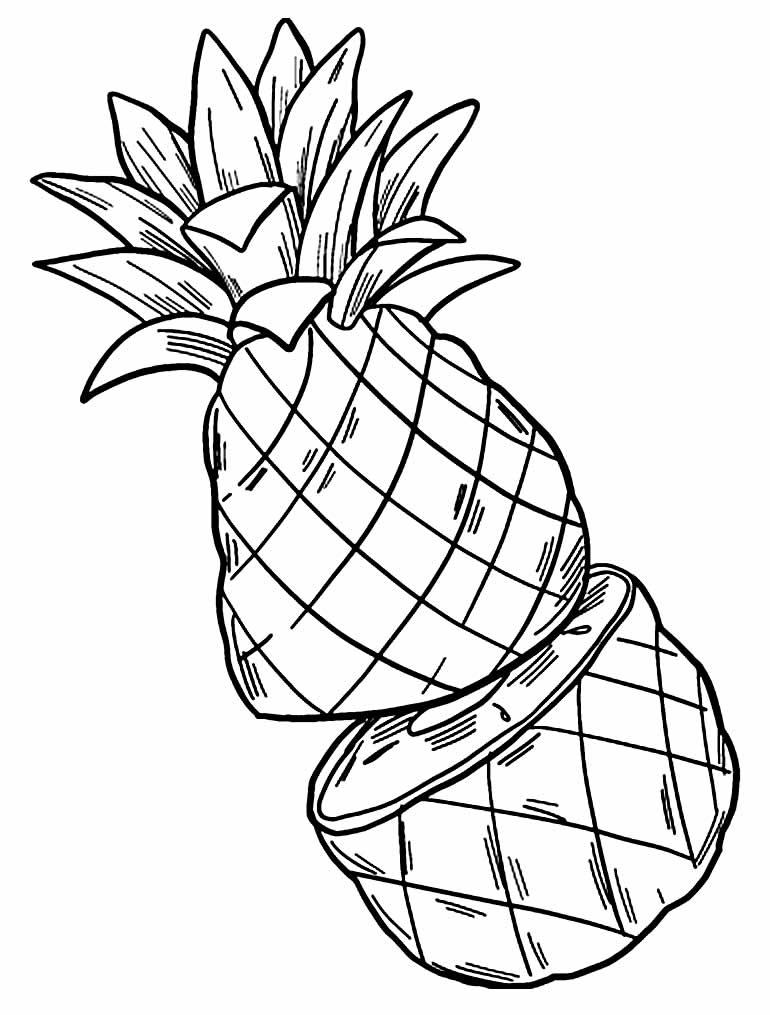 Desenho de abacaxi