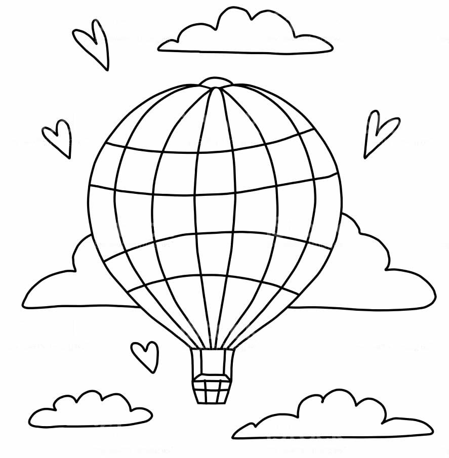 Desenho de balão