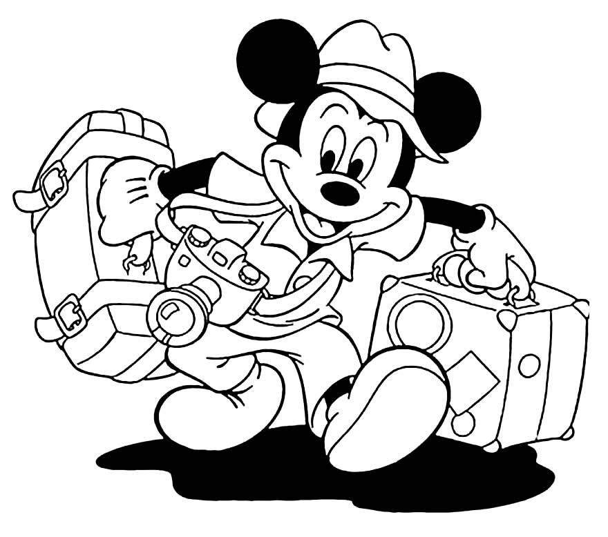 Lindo desenho do Mickey para colorir e pintar
