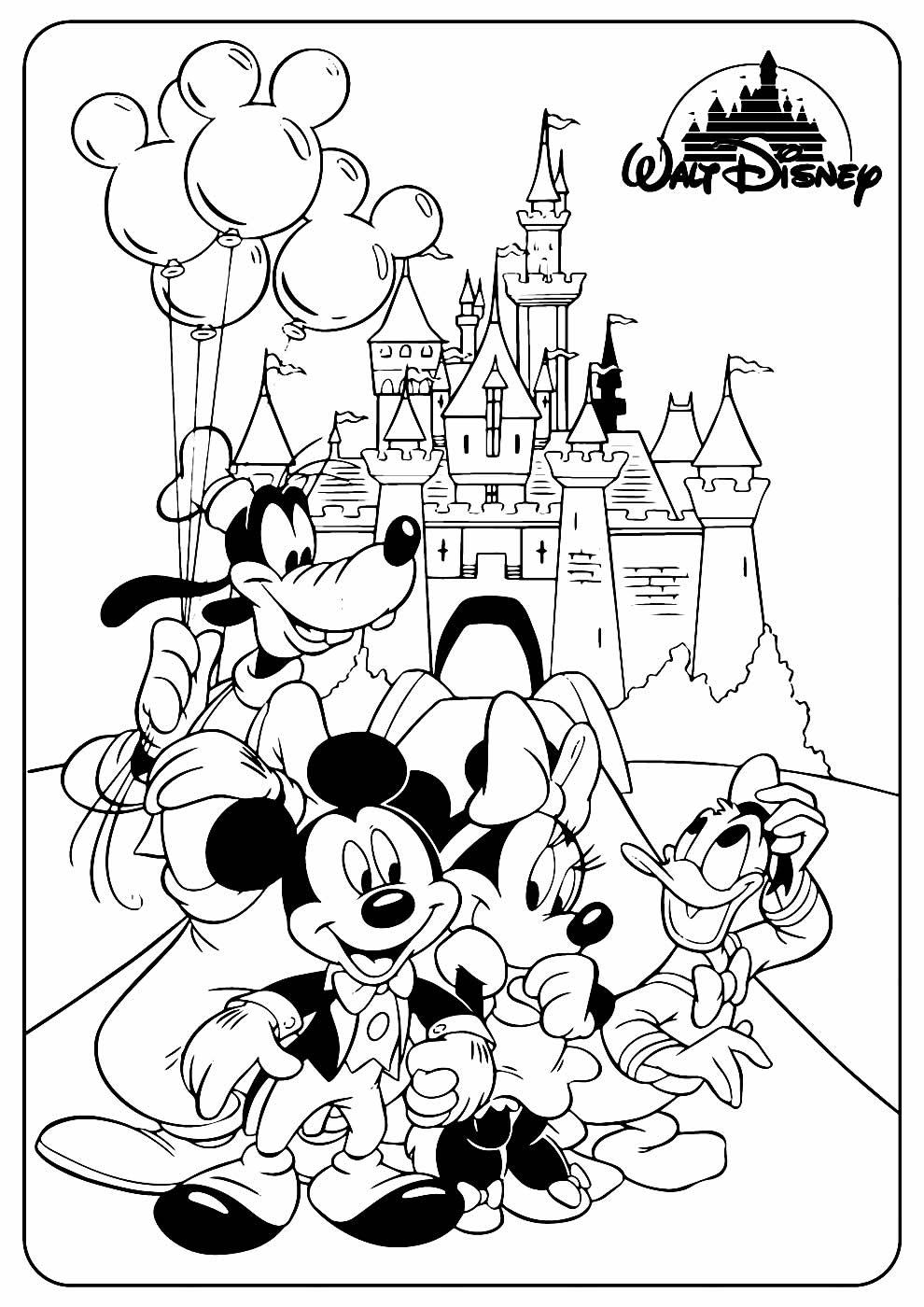 Desenho do Mickey para pintar