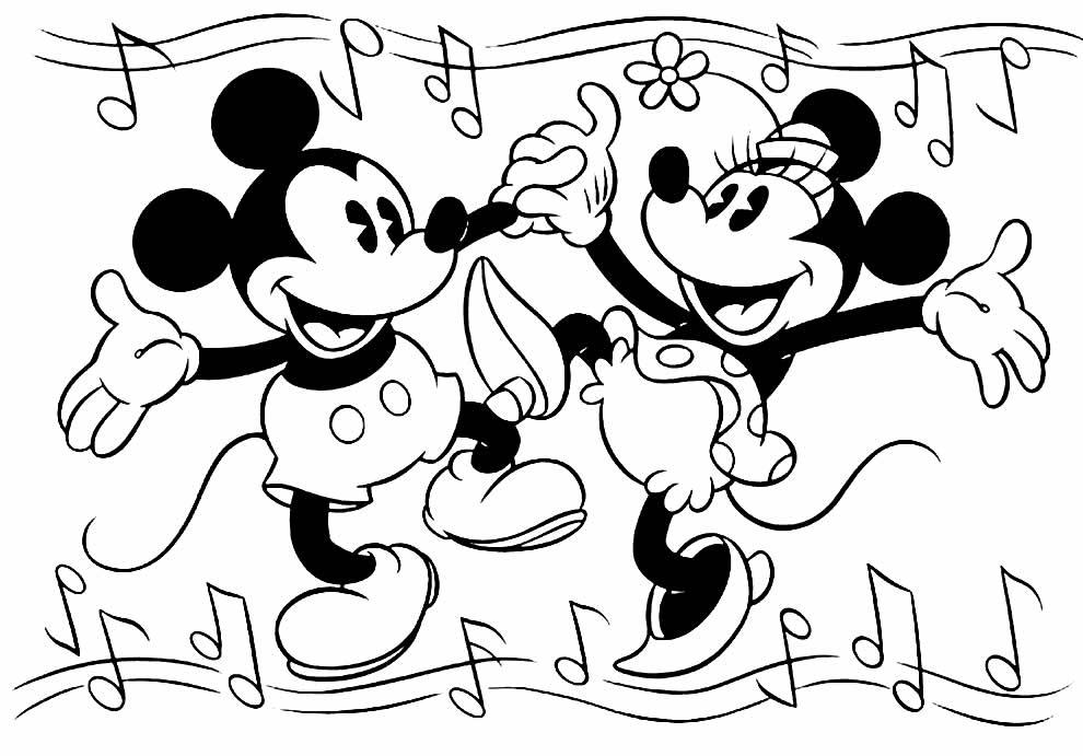 Lindo desenho do Mickey para pintar