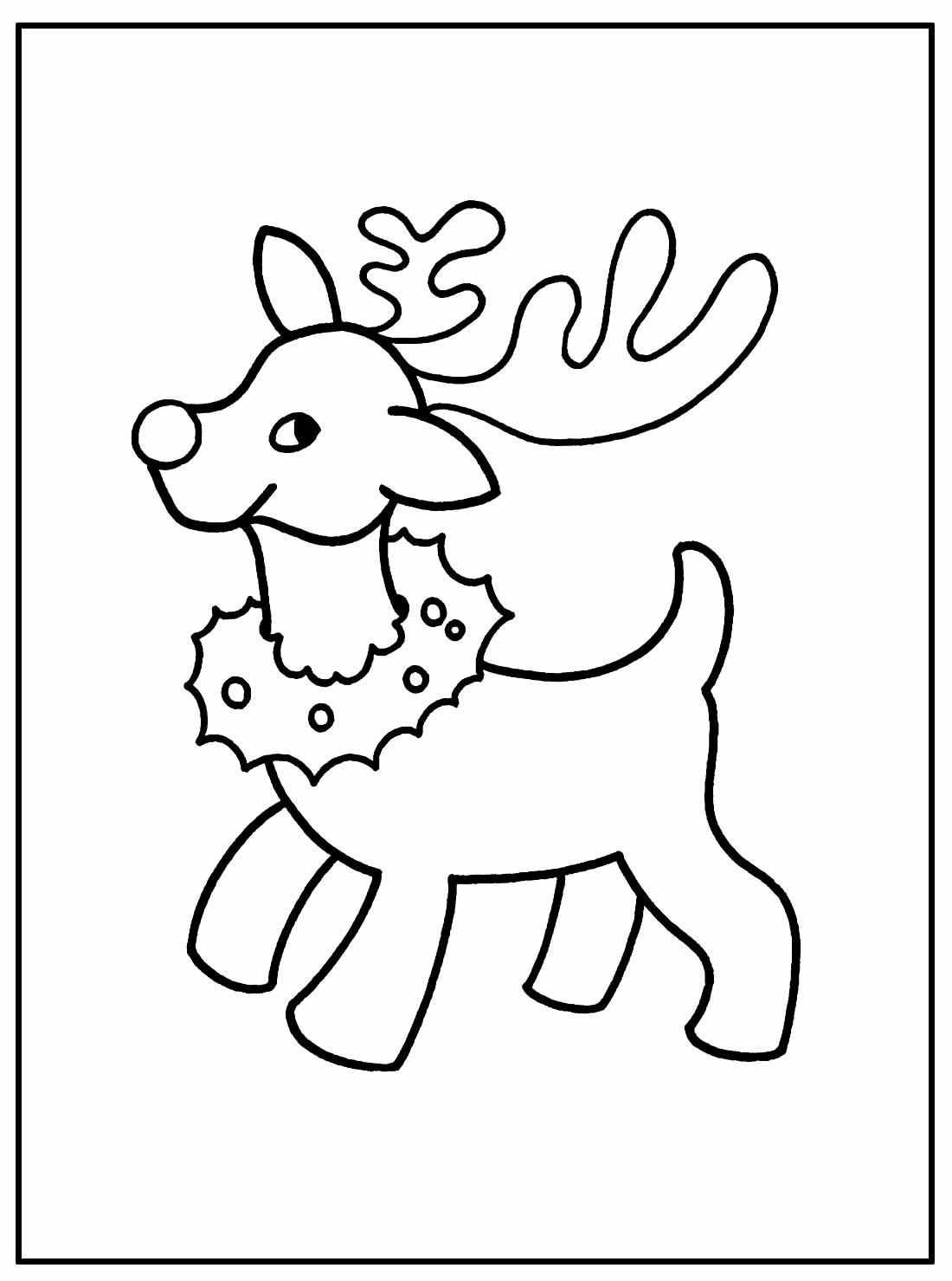 Desenhos para colorir de Renas