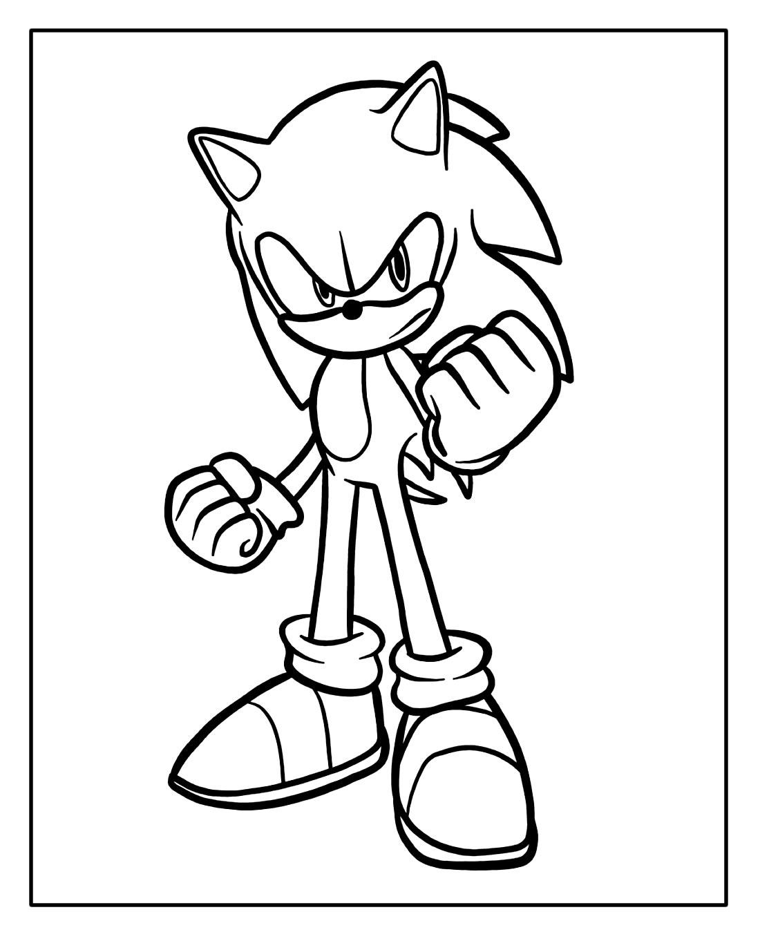 Desenho para colorir Sonic