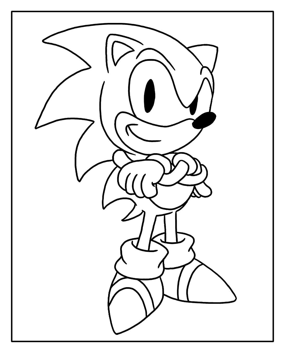 Página para colorir do Sonic