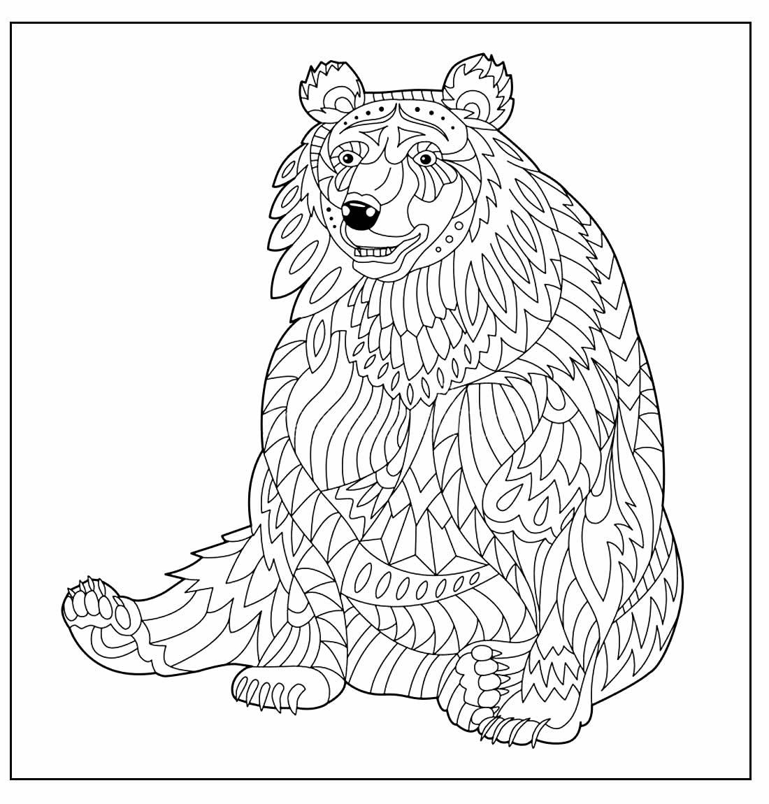 Desenho geométrico de Urso