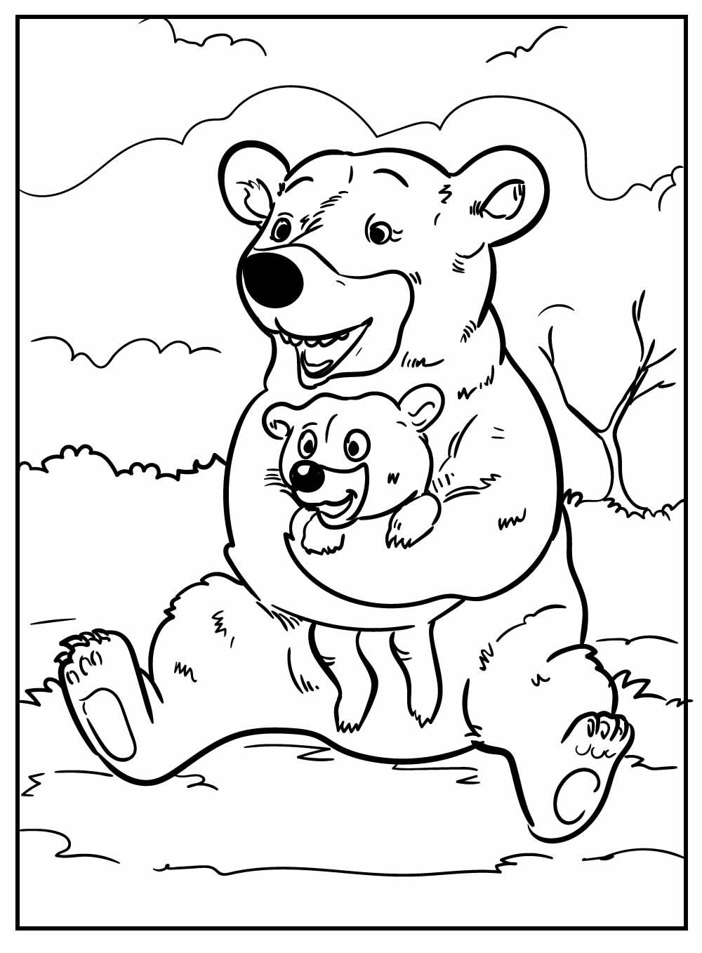 Desenho para colorir Urso