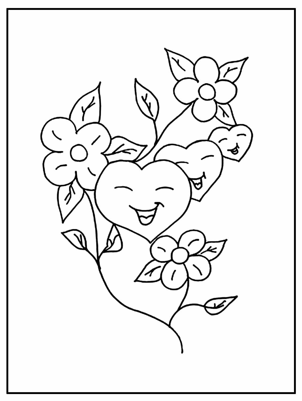 Página para colorir de Coração