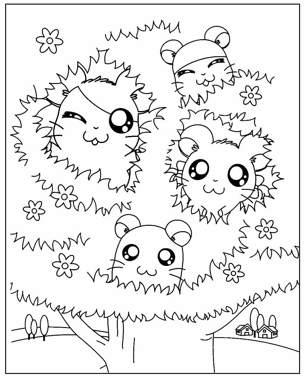 Página para colorir de Hamtaro