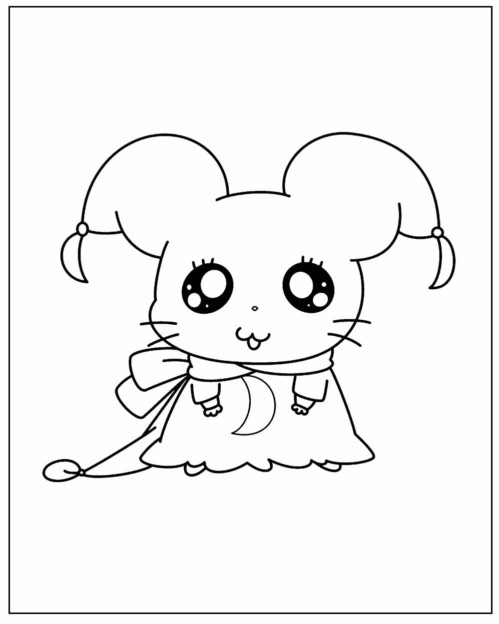 Página para colorir do Hamtaro