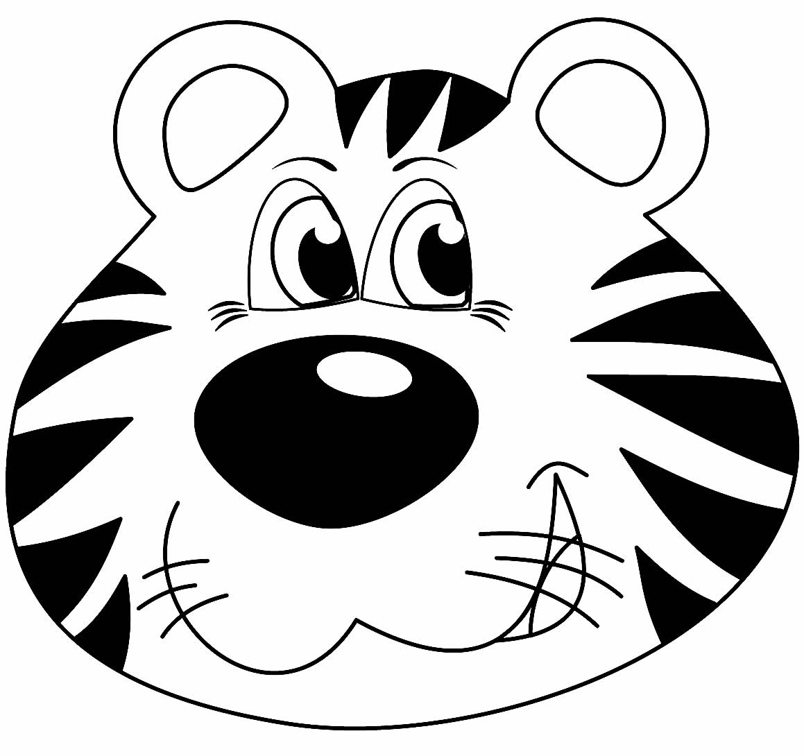 Desenho de Tigre para colorir