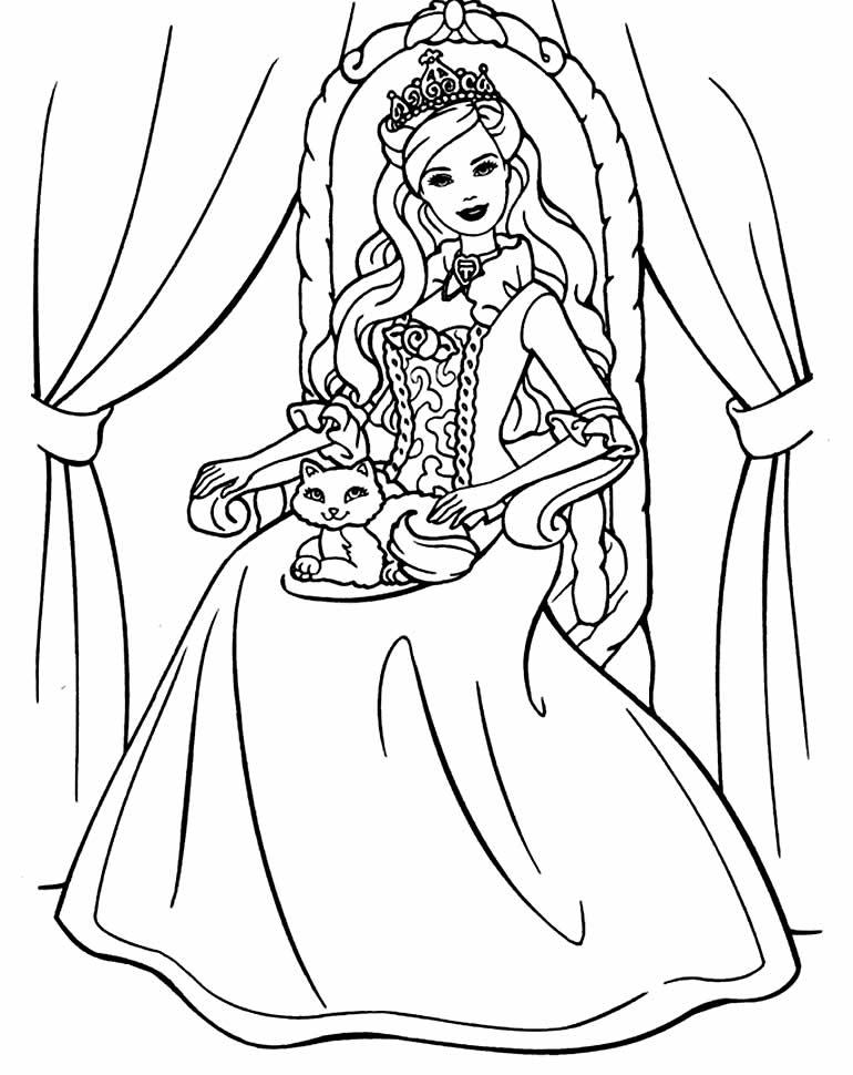 Desenho para pintar da Barbie