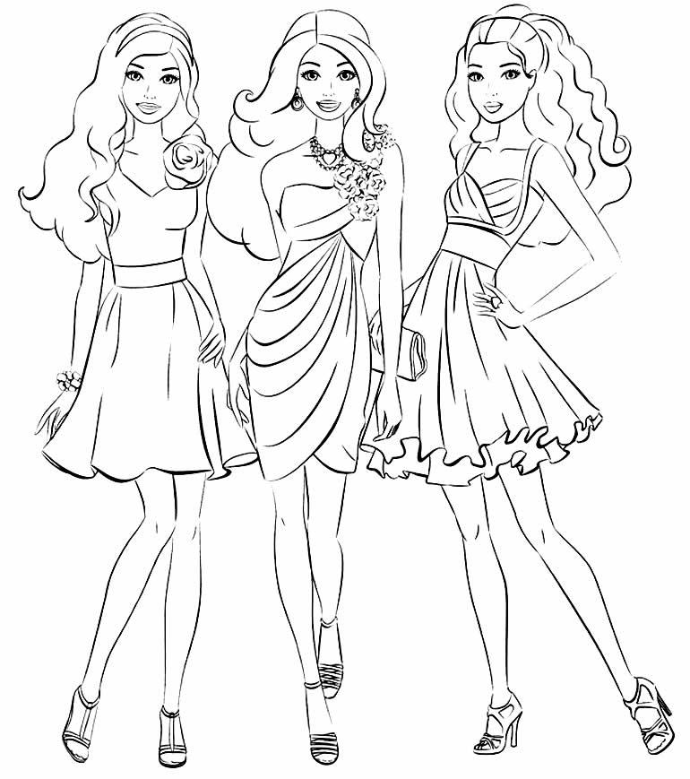 Linda imagem para colorir da Barbie