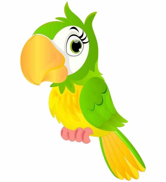 Desenho de Papagaio colorido