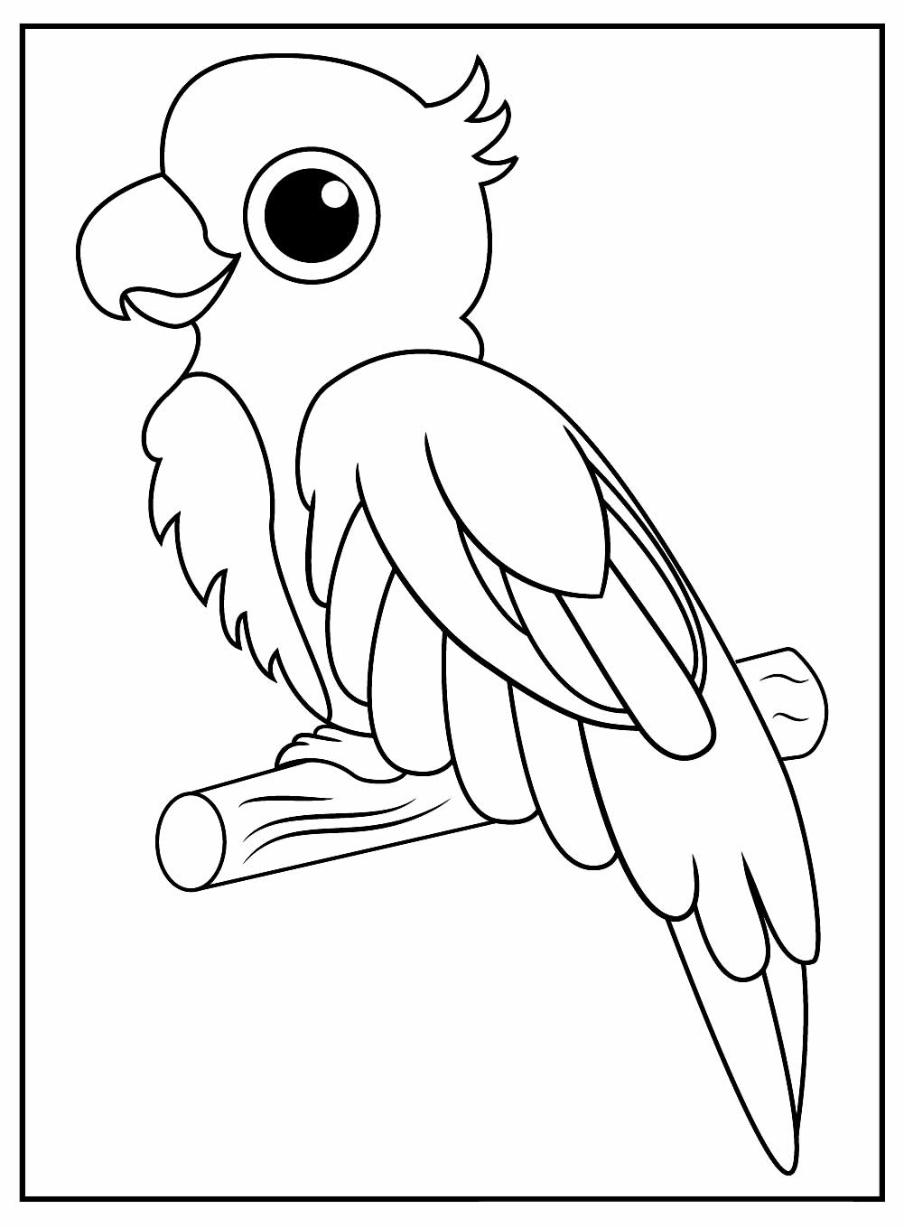 Desenhos de Papagaio para pintar e colorir