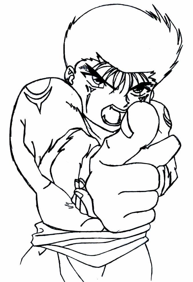 Desenho de Yu Yu Hakusho para colorir