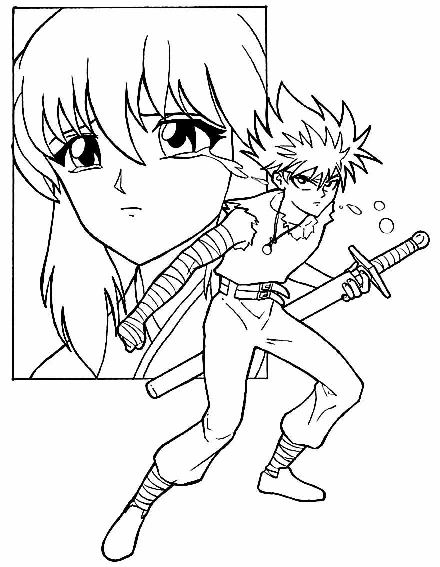 Desenhos de Animes para colorir